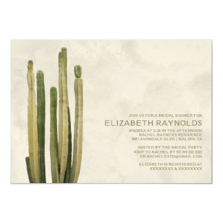 "Country Cactus Bridal Shower Invitations 5"" X 7"" Invitation Card"