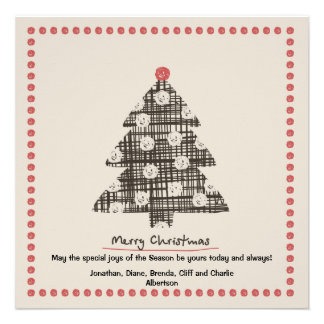 Country Christmas Holiday Card