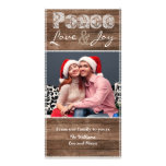Country Christmas Rustic Lace Flat Photo Card