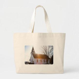 Country church canvas bag