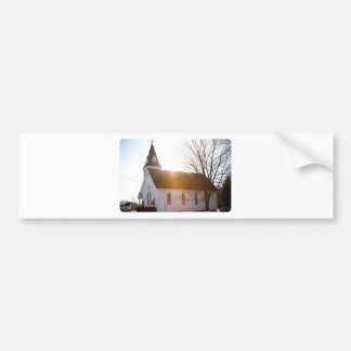 Country church car bumper sticker