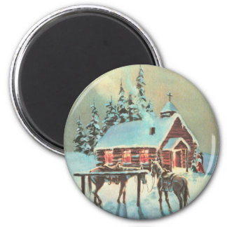 COUNTRY CHURCH by SHARON SHARPE Fridge Magnets
