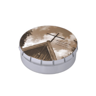 Country Church Candy Tin, Anniversary Party Favor