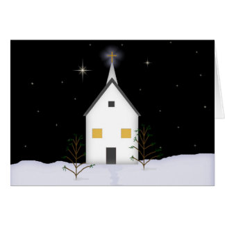 Country Church Christmas Card