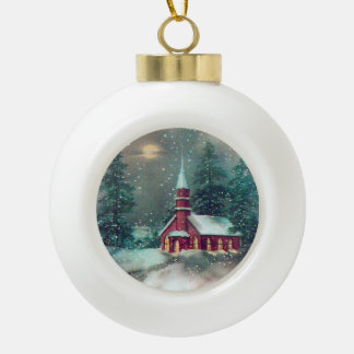 Country Church Christmas Ornament