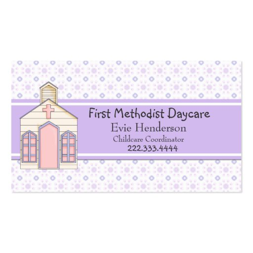 Country Church Daycare Business Card
