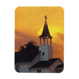 Country Church Rectangular Photo Magnet