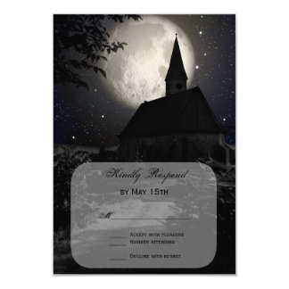 Country Church Full Moon Wedding RSVP Cards