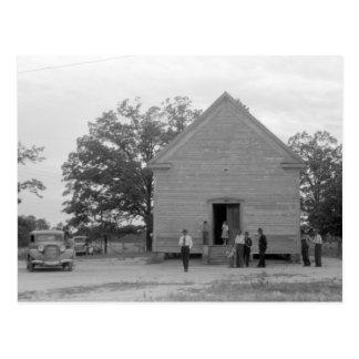 Country Church Greshamville Georgia 1940s Postcards