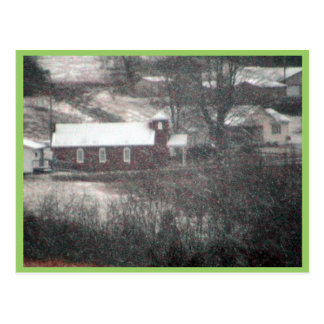 Country Church In A Snowstorm. Post Cards