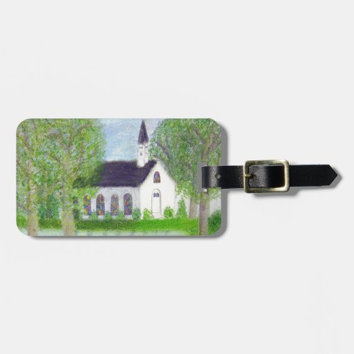Country Church Tag For Luggage