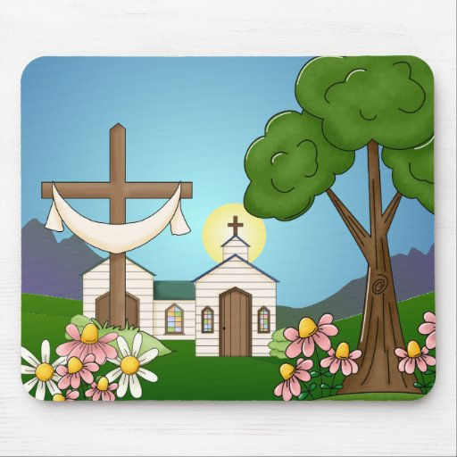 Country Church Mousepad