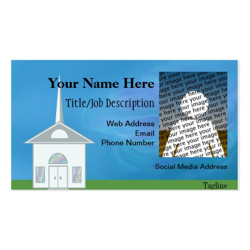 Country Church Photo Business Card