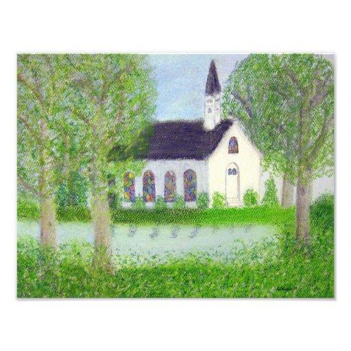 Country Church Art Photo