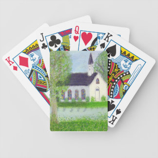 Country Church Playing Cards