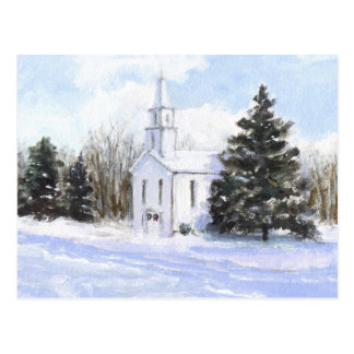Country Church Postcard