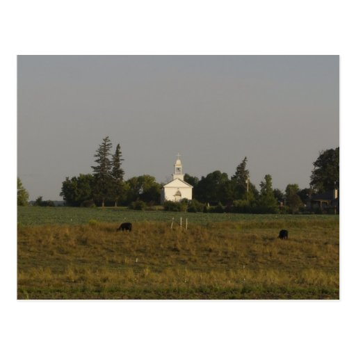 Country Church Post Card