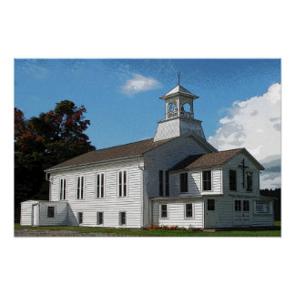 Country Church Poster