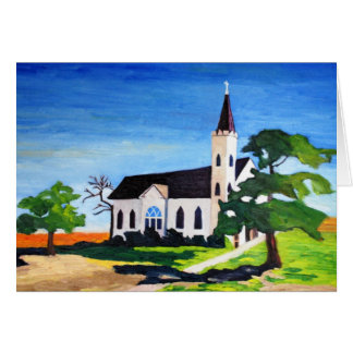 Country Church, Richland, Texas Stationery Note Card