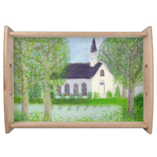 Country Church Serving Platter