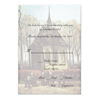 Country church wedding RSVP cards