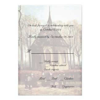 Country church wedding RSVP cards Invitation