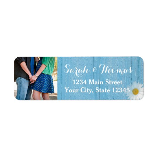 Country Daisy Photo Return Address Labels