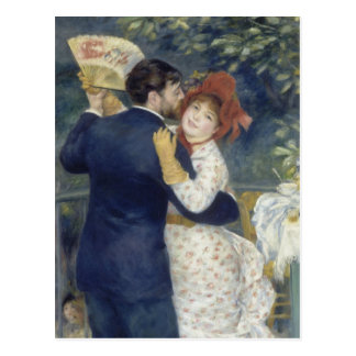 Country Dance by Pierre Renoir, Vintage Fine Art Postcard