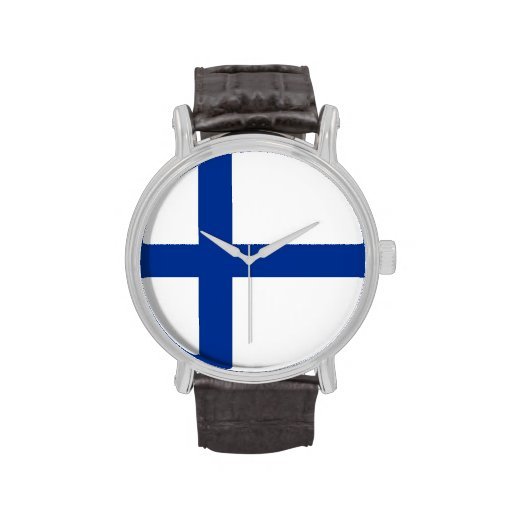 country flag finland finnish wristwatches