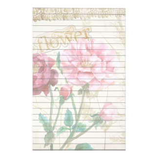 Country Flowers Stationery