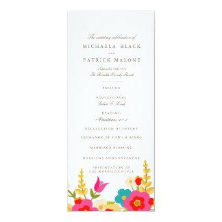 Country Flowers Wedding Programs