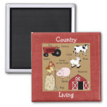 Country Kitchen Collection Farm Animals Magnet