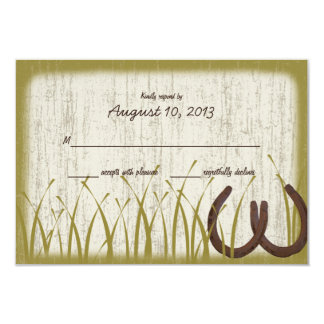 Country Meadow Rustic Wedding Response Card