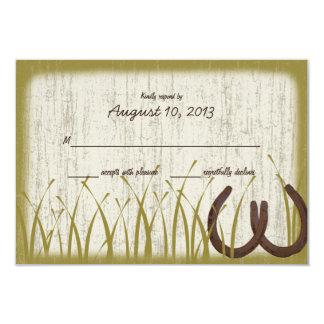 Country Meadow Rustic Wedding Response Card 9 Cm X 13 Cm Invitation Card