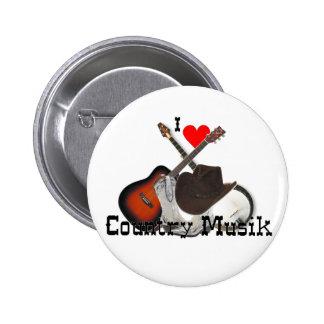country music 6 cm round badge