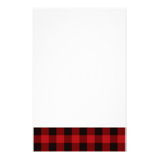 Country red and black plaid stationery