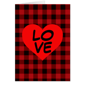Country red and black plaid with heat detail card