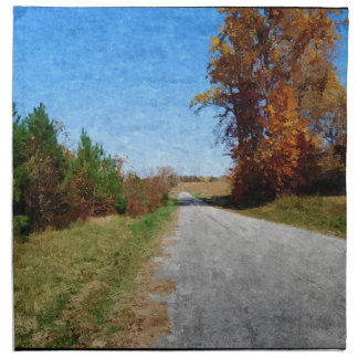 Country Road In Autumn Napkin