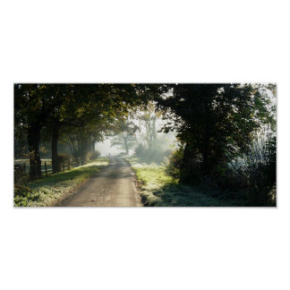 Country Road in Cheshire Poster