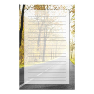 Country Road In Morning Stationery