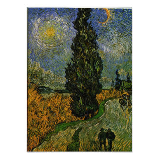 Country road in Provence - Van Gogh Photograph