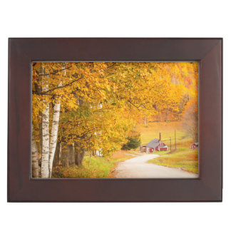 Country Road Leading To The Sugar Mill Keepsake Box