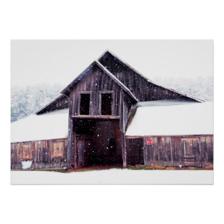 Country Snow 28x20 Poster Print