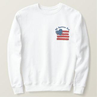 Country USA Embroidered Sweatshirt
