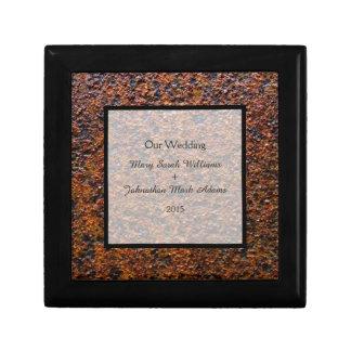 Country Wedding Rusted Steel Keepsake Gift Box