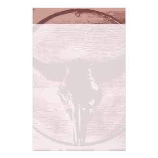 Country Western Longhorns Bull Skull Cowboy Gifts Stationery