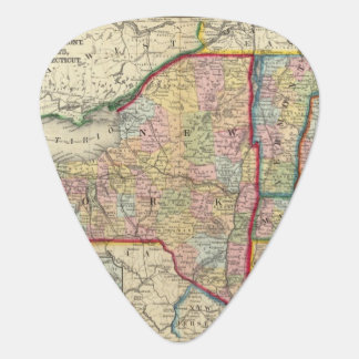 County Map Of The States Of New York Plectrum