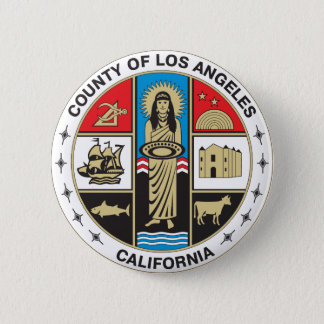 County of Los Angeles seal 6 Cm Round Badge