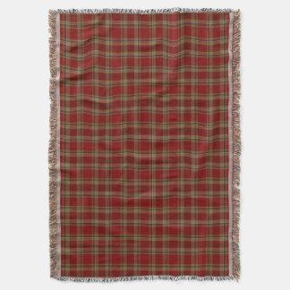 County Tyrone Irish Tartan Throw Blanket