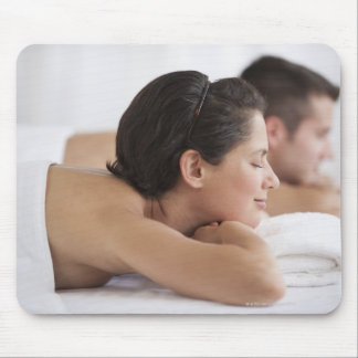 Couple at spa mouse pads